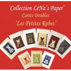 Carte Double Petite ROBE: Collection LéNa's Paper