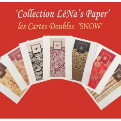 Carte Double SNOW LéNa