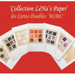 Carte Double RUBIC: Collection LéNa's Paper. CRU